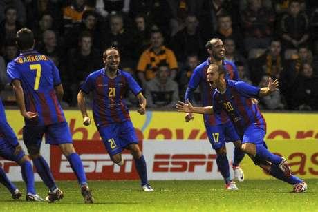 Juanlu entró en la historia del Levante marcando el primer gol de su historia europea. Los granota ganaron al Motherwell por 0-2 y encarrilaron la clasificación