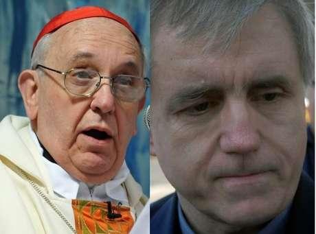<p>Bergoglio y el polémico Grassi, condenado por abusar de menores</p>