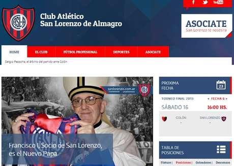 Papa Francisco: paixão pelo San Lorenzo desde o berço da família