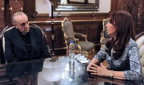 <p>Cristina y el entonces arzobispo de Buenos Aires, reunidos en 2010</p>