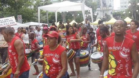 <p>Na Bahia, protesto contra Marco Feliciano contou com a participação do grupo Olodum</p>