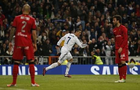 Cristiano Ronaldo fez um dos cinco gols do Real Madrid contra o Mallorca