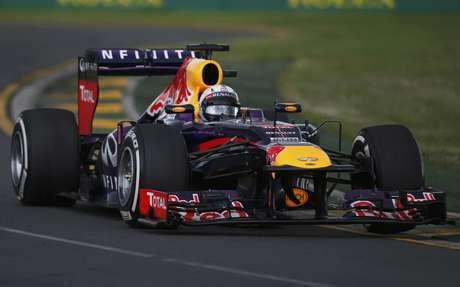 <p>Sebastian Vettel teve problemas hidráulicos no final da sessão</p>