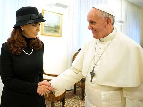 El Papa junto a CFK, en el Vaticano