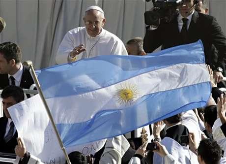 <p>El papa Francisco en la inauguración de su pontificado en la plaza de San Pedro</p>