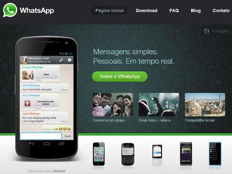 <p>Aplicativo WhatsApp manda mensagens de texto via internet</p>