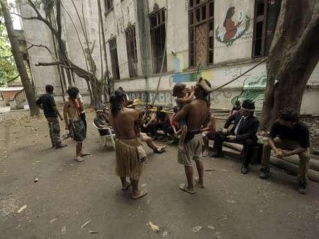 Indígenas ocupam o prédio do antigo Museu do Índio desde 2006