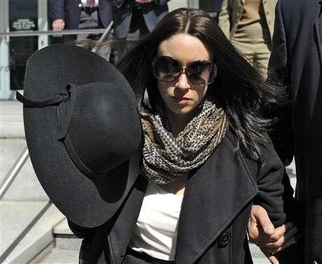 Casey Anthony salió de la corte en Tampa, Florida, el lunes 4 de marzo de 2013.