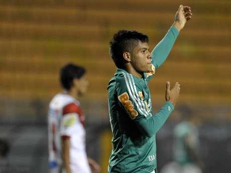 <p>Leandro tem quatro gols em cinco jogos até agora</p>