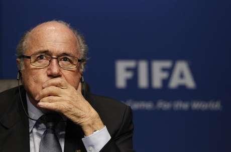 <p>Su&iacute;&ccedil;o Joseph Blatter n&atilde;o deve&nbsp;concorrer a&nbsp;quinto mandato na Fifa</p>