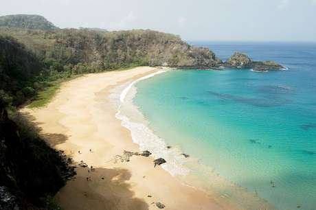 <p>Praia do Sancho é uma das mais bonitas deFernando de Noronha</p>