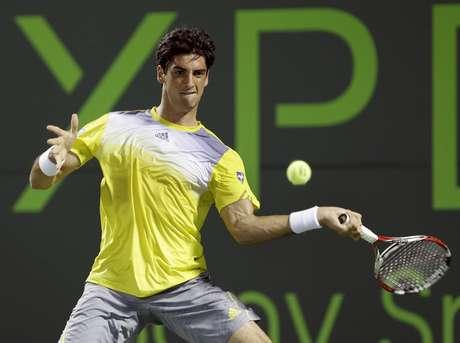 <p>Brasileiro derrotou Daniel Brands por 2 sets a 1, com parciais de 2/6, 6/4 e 6/2</p>