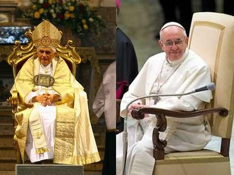 <p>El sillón usado por el papa emérito Benedicto XVI fue reemplazado por el que se observa en la foto de Francisco.</p>