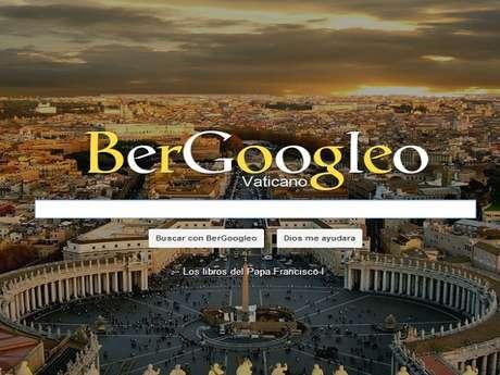 <p>BerGoogleo.com presenta las letras de su buscador con colores similares al de la bandera papal, en amarillo y blanco, y de fondo de pantalla a la Basílica de San Pedro.</p>