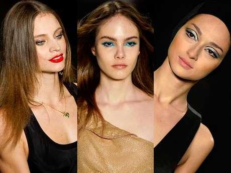 <p>O pr&oacute;ximo ver&atilde;o deve ser marcado por maquiagens coloridas e com brilho. Nos desfiles do S&atilde;o Paulo Fashion Week, as grifes mostraram suas apostas. Algumas marcas pedem batons vibrantes, outras querem olhos marcados e algumas escolheram looks leves com um brilho na pele. Veja as maquiagens apresentadas no SPFW</p>