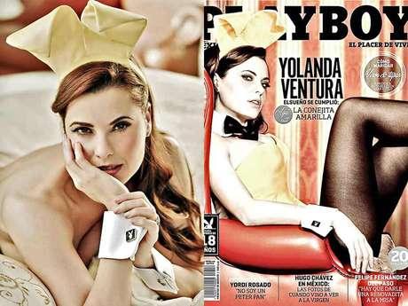 Yolanda Ventura se convirtió en la primera mujer, en la edición mexicana, en lucir el emblemático traje de conejita.