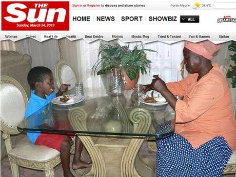 Sanele Masilela e Helen Shabangu casaram-se no dia 12 de março, a pedido do avô do menino