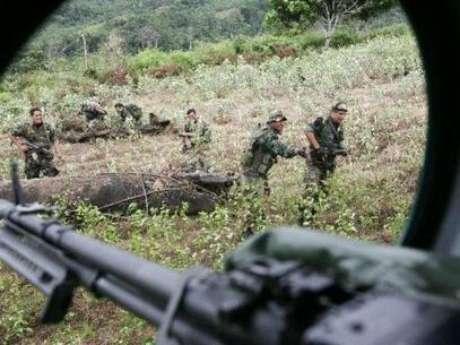 <p>Soldados se encuentran en la zona conocida como Vraen luchando contra el terrorismo.</p>