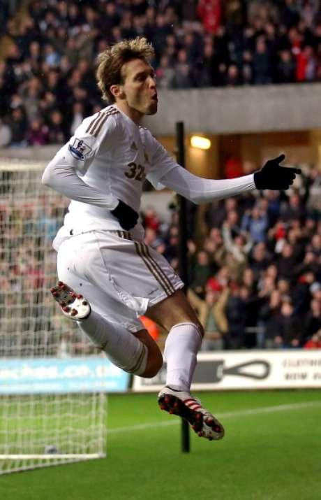 Michu, jugador español del Swansea