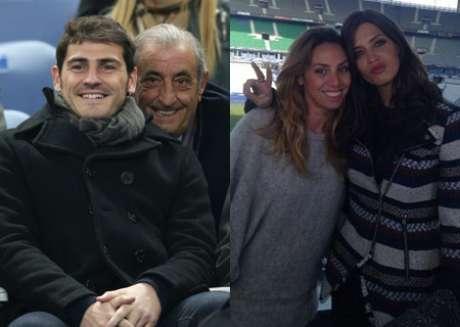 <p>Iker Casillas, Hidalgo y Sara Carbonero</p>