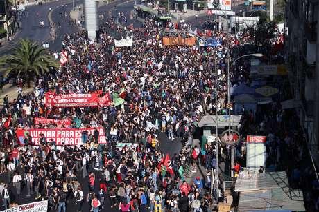 La marcha se realiza desde la Usach hasta Club Hípico.