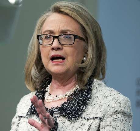 Imagem mostra Hillary Clinton em 31 de janeiro deste ano