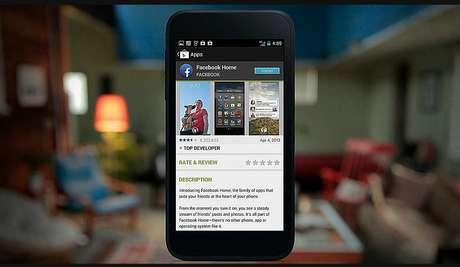 Quem já tiver o Facebook instalado no Android, verá um aviso de update quando o Facebook lançar o Home