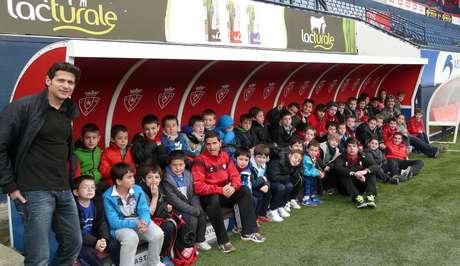 Los chavales del campus acudieron al estadio Reyno de Navarra.