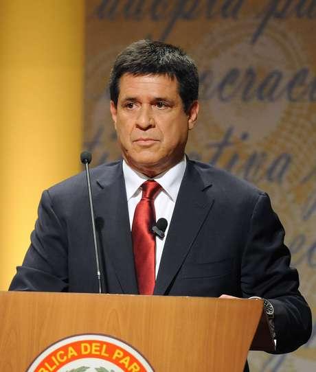 Horacio Cartes participa de debate presidencial em 17 de março, em Assunção