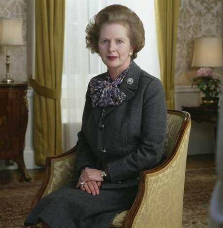 Margaret Thatcher en 1985.