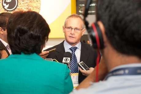 O secretário de Segurança do Rio de Janeiro, José Mariano Beltrame, concede entrevista no Fórum da Liberdade