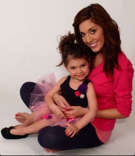 <p>'Teen Mom' star Farrah Abraham with her four-year-old daughter, Sophia.</p>