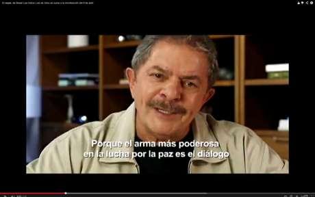 Em vídeo do Instituto Lula, o ex-presidente diz que Colômbia merece oportunidade de viver em paz no século XXI