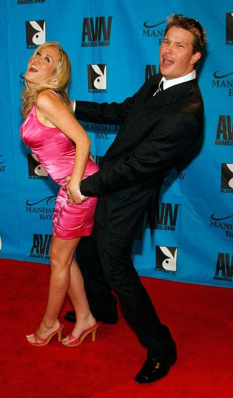<p>Alana Evans e o marido, o diretor pornô Chad Evans</p>