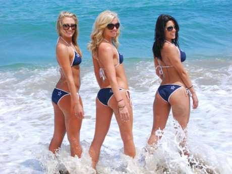 Jordan Elizabeth, cheerleader de Dallas Cowboys, subió a su twitter imágenes de lo que será el calendario de las famosas porristas.