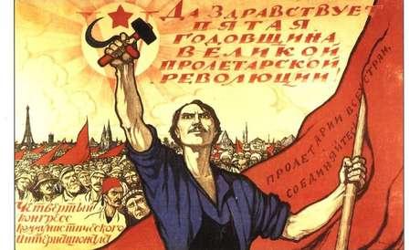 Cartaz exaltando o proletariado