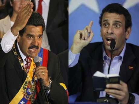 <p>Maduro y Capriles en pugna por el sillón presidencial.</p>
