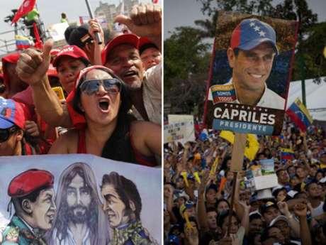 Los chavistas y simpatizantes de Capriles.