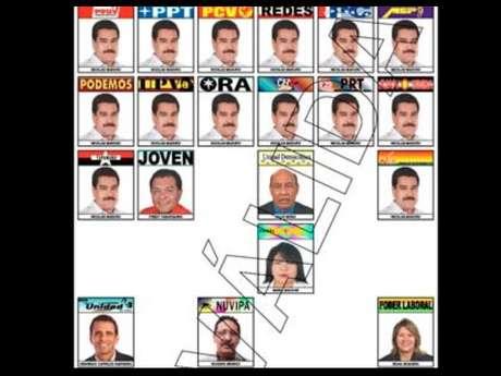 <p>Nicolás maduro es el único candidato que aparece más de una vez en la boleta.</p>