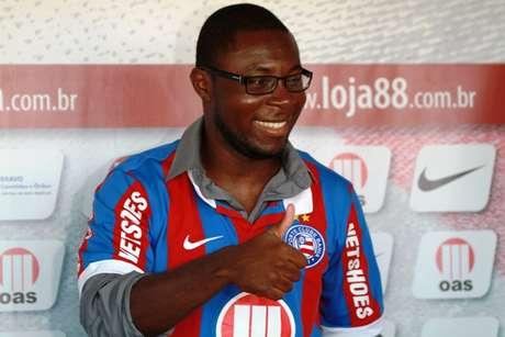 <p>Freddy Adu, meia-atacante americano, foi apresentado pelo Bahia como refor&ccedil;o para a temporada 2013</p>