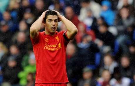Suárez tuvo varias chances de gol.