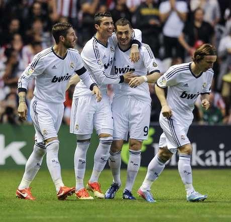 Cristiano Ronaldo anotó el primero de sus dos goles a los 70 segundos, en el triunfo 3-0 sobre Athletic.