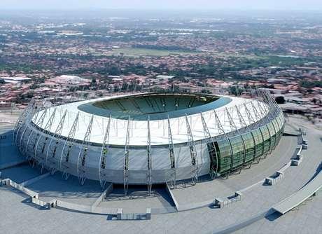 Vista aérea del estadio Arena Castelao
