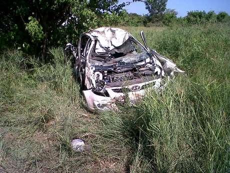 Carro em que viajavam os turistas pelo Parque Nacional Kruger