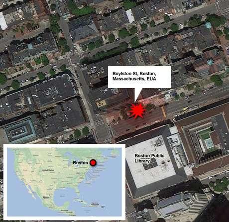 Infográfico - bomba na Maratona de Boston