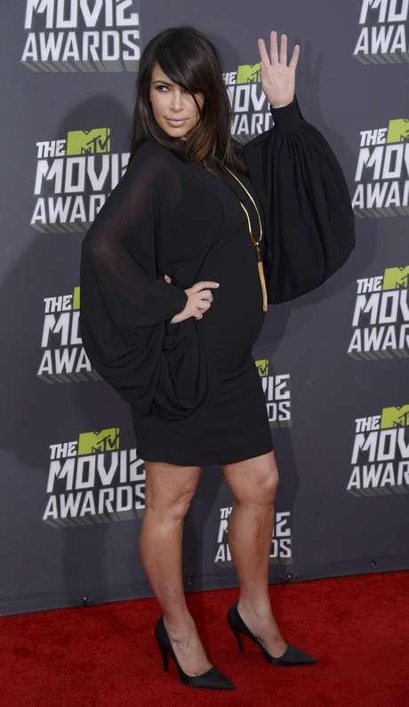 <p>A pesar de su embarazo, Kim Kardashian no deja la vida social en Hollywood.</p>