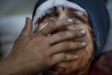 <p>Una de las imágenes que logró en Siria durante la guerra civil</p>