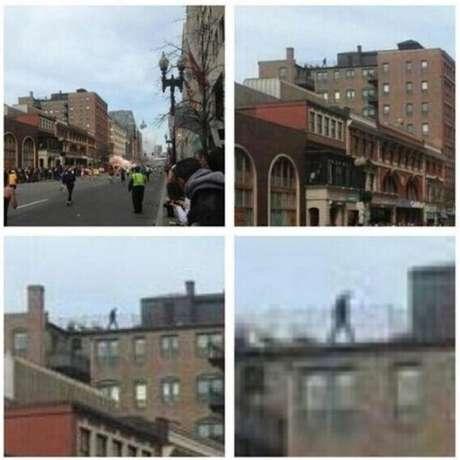 Las imágenes muestran al presunto sospechoso en la azotea de un edificio.