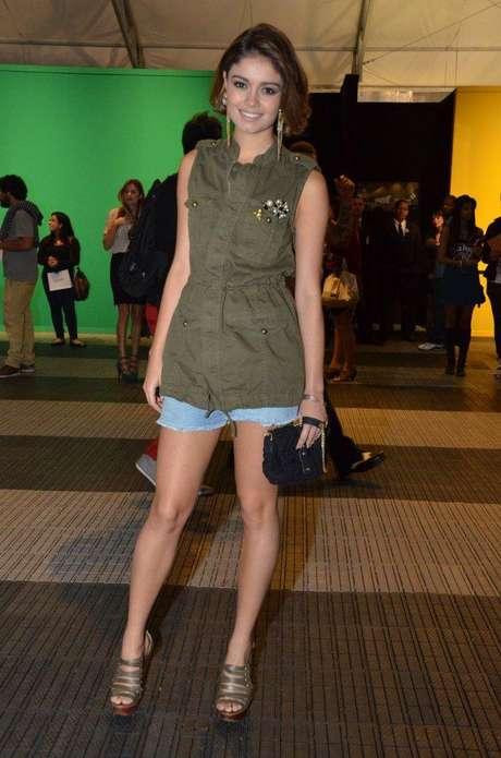 <p>A atriz compareceu ao segundo dia do Fashion Rio, na capital fluminense</p>