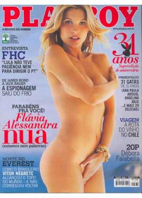 <p>Flávia Alessandra, a Érica de 'Salve Jorge',saiu na 'Playboy' pela primeira vez em 2006</p>